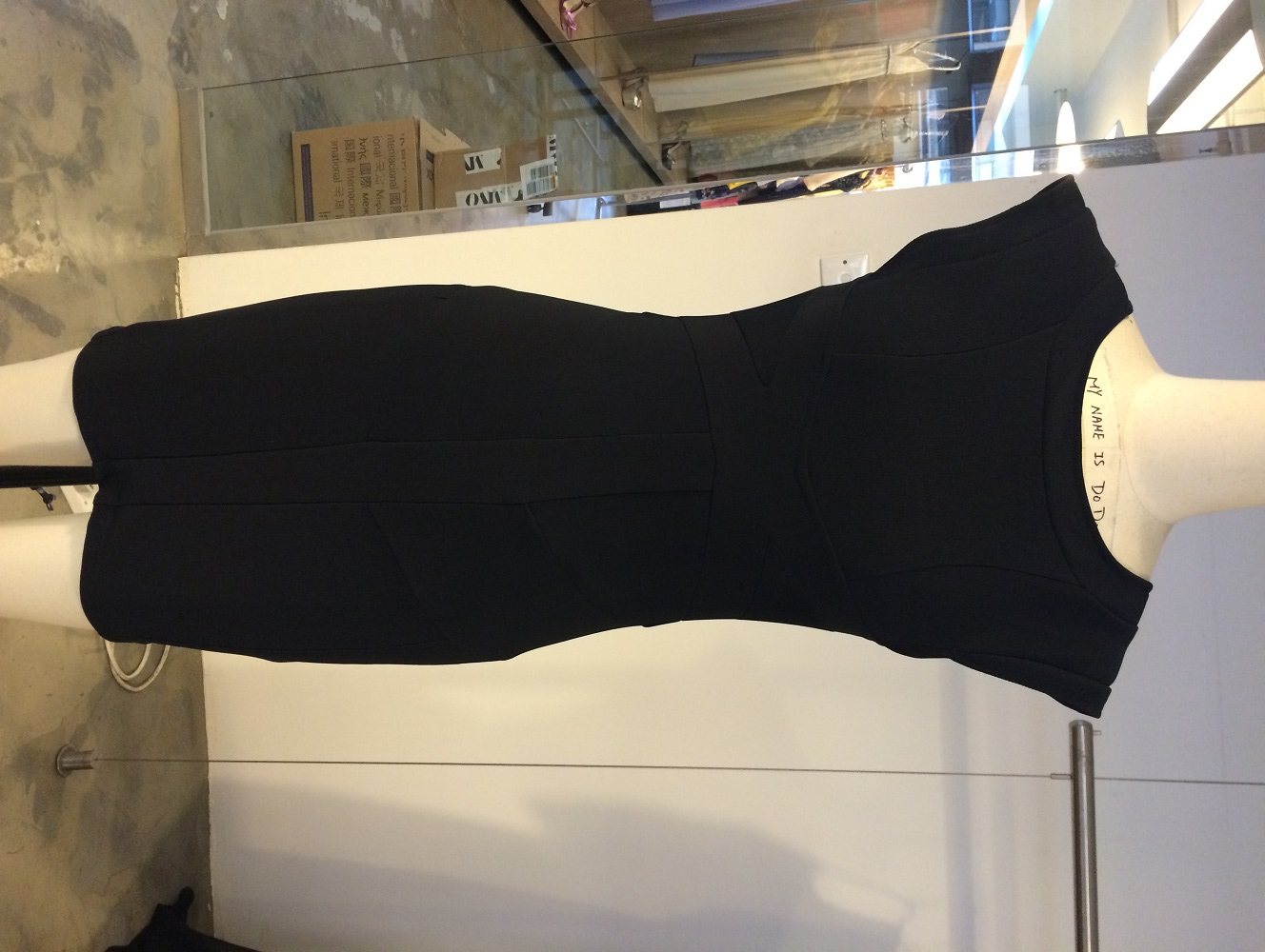 Deep V Back Sleeveless Dress - 2nd fit sample 1